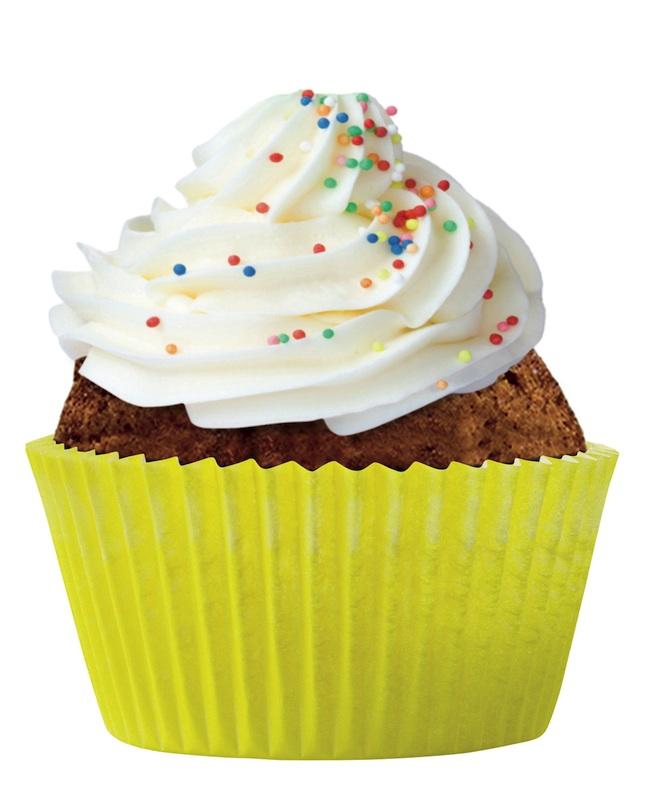 Cupcake deco jaune