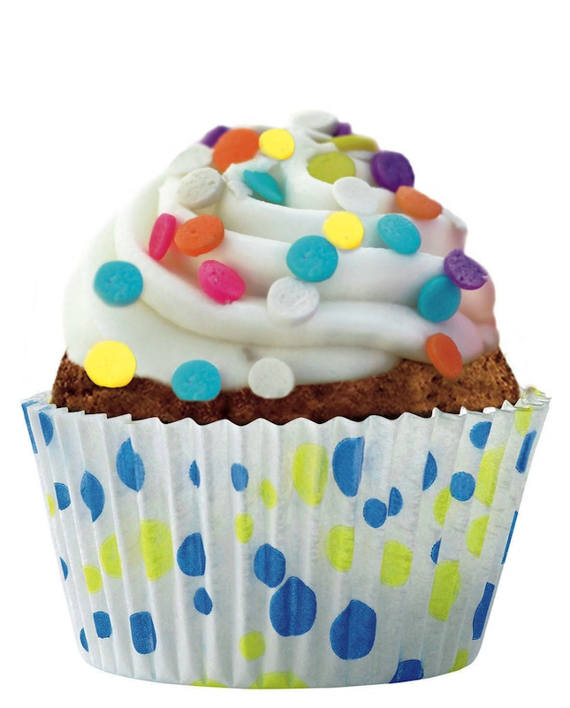 Cupcakes deco pois