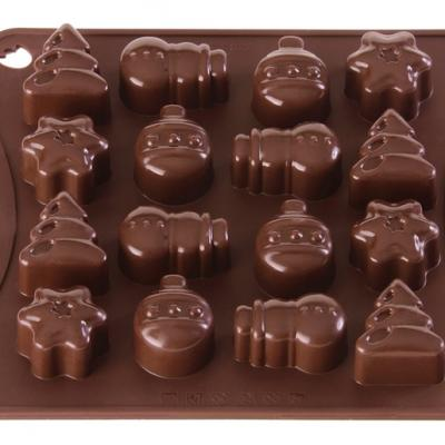 Chocolate Mould x16 Christmas
