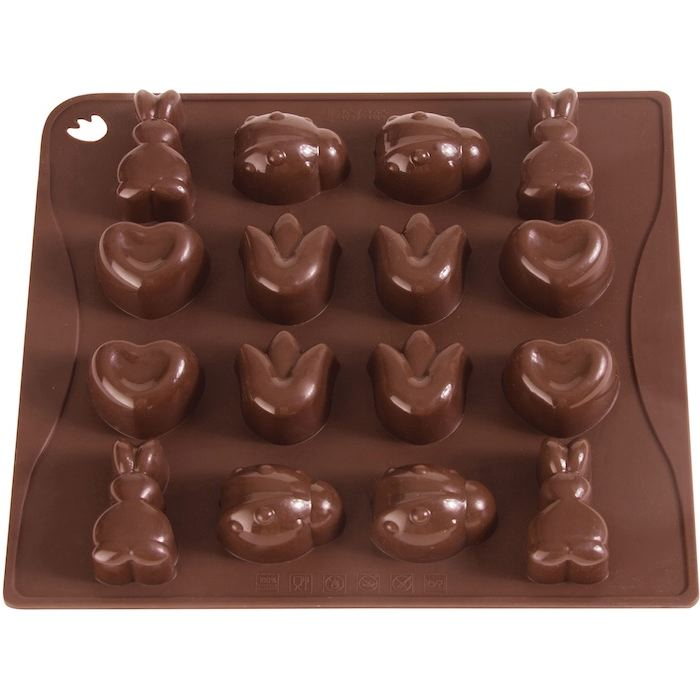 Moule 16 chocolats spring