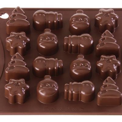 Chocolate Mould x16 Christmas