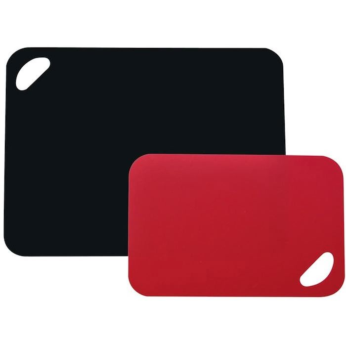 Planche a decouper rouge noir